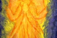 Engel (Acryl auf Papier 29,7 x 42 cm)