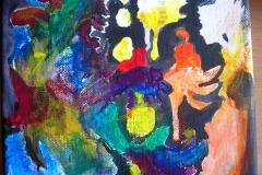 Geschenk (Acryl auf Leinwand 21 x 14 cm)