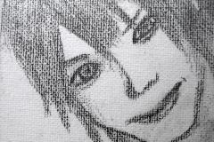 Keiyuu (Bleistift auf Leinwandkarton 10,5 x 14 cm)