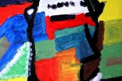 Musicman (Acryl auf Papier 21 x 29,7 cm)