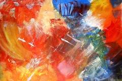Expressionistisch (Acryl auf Papier 42 x 29,7 cm)