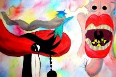 Weg ins Glück (Acryl auf Leinwand ca 30 x 20 cm)