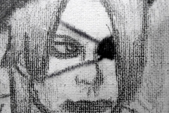 Tatsurou (Bleistift auf Leinwandkarton 10,5 x 14 cm)