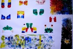 O. T. (Acryl, Collage auf Papier, 59,4 x 42 cm)