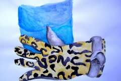 Stillleben (Aquarell auf Papier, 59,4 x 42 cm)