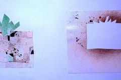 Tomate I (Collage auf Papier, 59,4 x 42 cm)