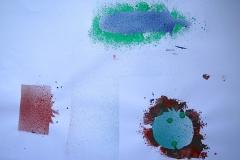 Tomate IV (Collage auf Papier, 59,4 x 42 cm)