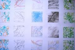 O. T. (Mischtechnik, Collage auf Papier, 59,4 x 42 cm)