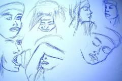 Skizzen (Bleistift auf Papier, 59,4 x 42 cm)