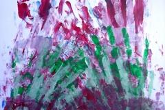 Hände (Acryl auf Papier, 42 x 59,4 cm)