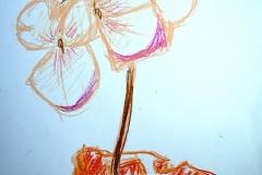 Blume (Wachsmalkreide auf Papier, 59,4 x 42 cm)