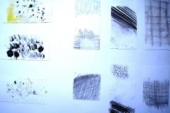 O. T. (Tusche, Mischtechnik, Collage auf Papier, 59,4 x 42 cm)