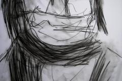Skizze (Kohle auf Papier, 42 x 59,4 cm)