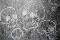 """""""Radierung"""" (Bleistift auf Papier, 59,4 x 42 cm)"""