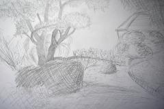 Bot. Garten (Bleistift auf Papier, 59,4 x 42 cm)