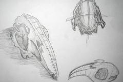 Skizze (Bleisfit, auf Papier, 59,4 x 42 cm)
