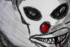 Clown (Wachsmalkreide auf Papier, 59,4 x 42 cm)