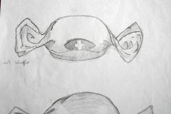 Bonbon (Bleistift auf Papier, 21 x 29,7 cm)