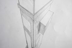 Haus (Bleistift auf Papier, 42 x 59,4 cm)