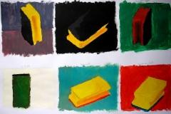 Schwämmchen (Acryl auf Papier, 59,4 x 42 cm)