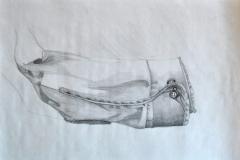 Ärmel (Bleistift auf Papier, ca. 29,7 x 21 cm)