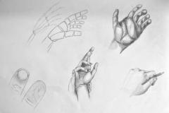 Hände (Bleistift auf Papier, 59,4 x 42 cm)