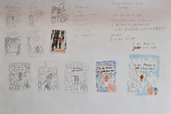 Skizzen zu: In der Masse ist jeder etwas Wert (verschied. Techniken auf Papier, 59,4 x 42 cm)