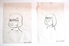 Karikaturen Meinereiner (Tusche auf Transparentpapier, 42 x 29,7 cm)