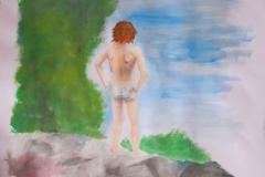 Freiheit (Acryl auf Papier, ca. 42 x 29,7 cm)