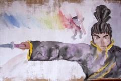 Ryoma (Aquarell auf Karton, ca. 40 x 25 cm)