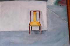 Stuhl (Acryl auf Karton, ca. 40 x 40 cm)