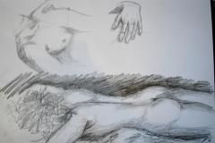 Nachtskizzen (Bleistift auf Papier, ca. 42 x 29,7 cm)