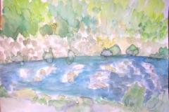 Aquarell Wertach (Aquarell auf Papier, ca. 42 x 29,7 cm)
