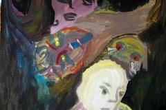 Die Flucht (Acryl auf Karton, ca. 20 x 30 cm)