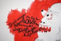 Die Qualen des L&P (Bleistift, Acryl auf Karton, ca. 40 x 30 cm)