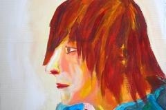 Portrait einer Freundin (Acryl auf Karton, ca. 35 x 30 cm)