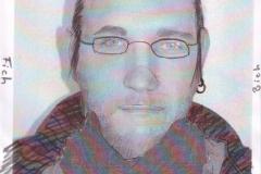 Selbstportrait - Fich Bich (Collage auf Papier, ca. 21 x 29,7 cm)