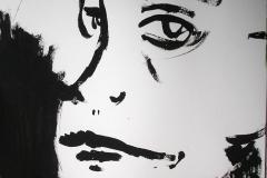 Gesicht in zwei Perspektiven (Acryl auf Papier, 14,8 x 21 cm)