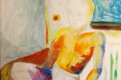 O. T. (Im Bezug auf Alter und das Denken) (Öl auf Leinwand, ca. 40 x 70 cm)