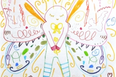 Für die Mädchen (Filzstift auf Papier, ca. 20 x 20 cm)