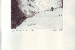 Das Märchen von der Wolke (Rilke Gedicht Interpretation) (Kaltnadelradierung auf Papier, ca. 20 x 30 cm)