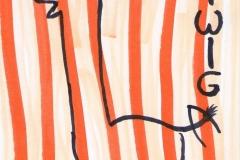Twiga - Postkarte (Copics auf Papier, 14,8 x 10,5 cm)
