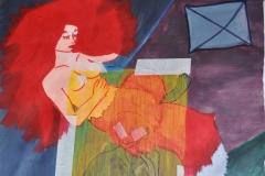 Überschneidungen (Acryl, Collage auf Papier, 42 x 59,4 cm)