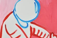 Astronaut (Acryl auf Papier, 21 x 29,7 cm)