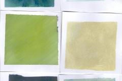 Die Farbe des Schnees (Acryl auf Papier, 21 x 29,7 cm)