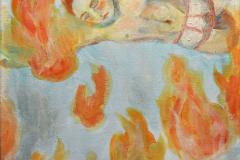 Geburt einer Wolke (Öl auf Leinwand, ca. 20 x 30 cm)
