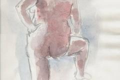 Akt Y (versch. Techniken, ca. 21 x 29,7 cm)