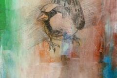 Bevor (Bleistift, Öl auf Holz, ca. 20 x 30 cm)