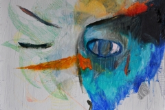 Auge (Öl auf Leiwnand, 50 x 40 cm)