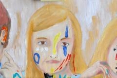 Portraits (Öl auf Holz, 113 x 22 cm)